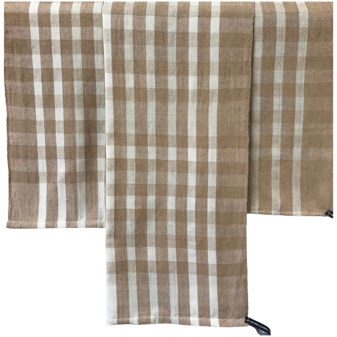 Checkered Hand Towel Fibershed Marketplace